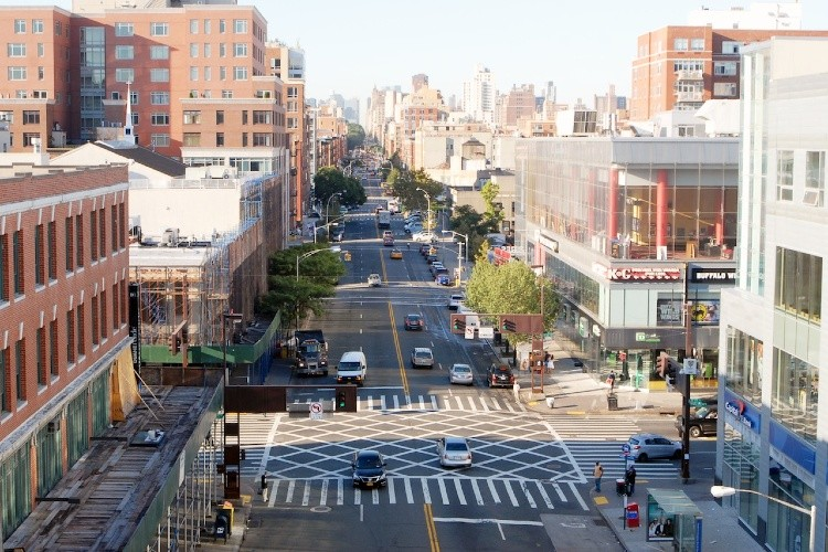 Aerial image of 125th street in Harlem