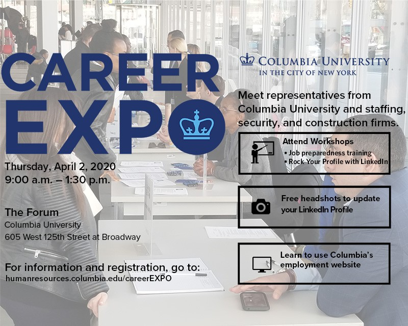 Career Expo Decorative Flyer describing information on this page.