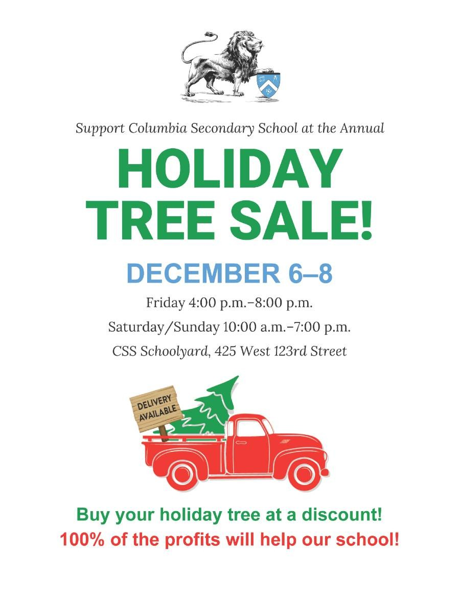 Flyer with tree sale details.