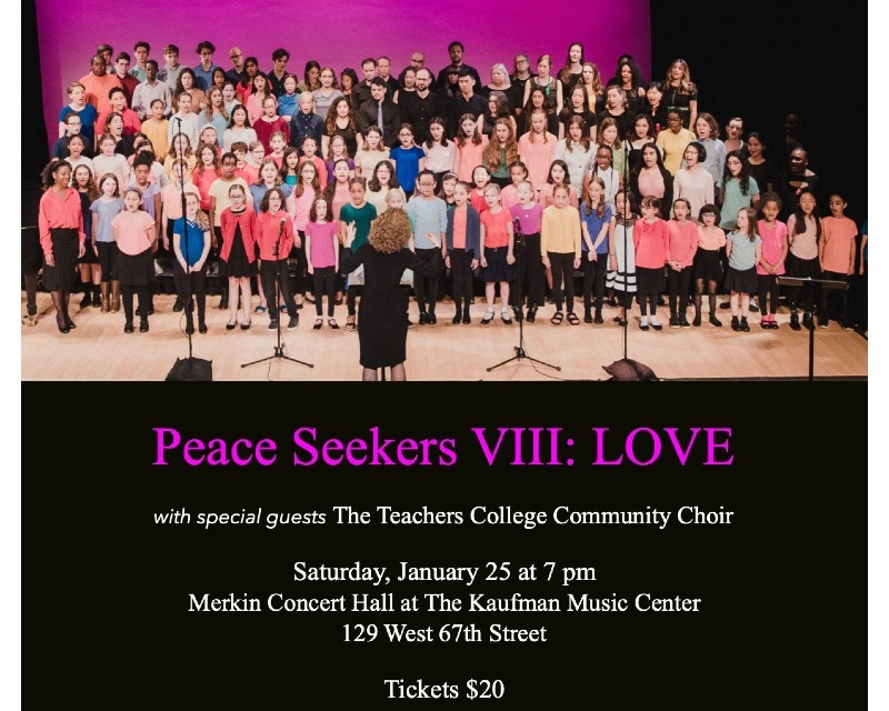 Flyer that includes a picture of the choir and event details