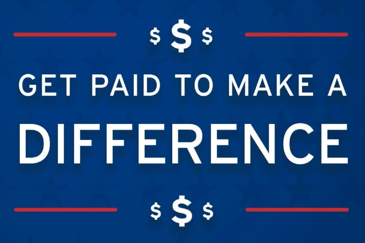 text: get paid to make a difference