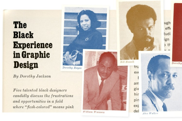 The top of an article by Dorothy Johnson about Black designers in 1968.