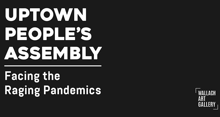 banner on black background with white letters