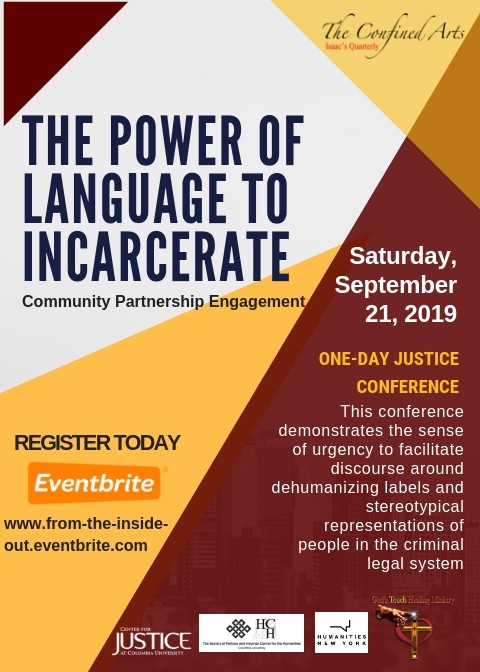The Power of Language to Incarcerate flyer