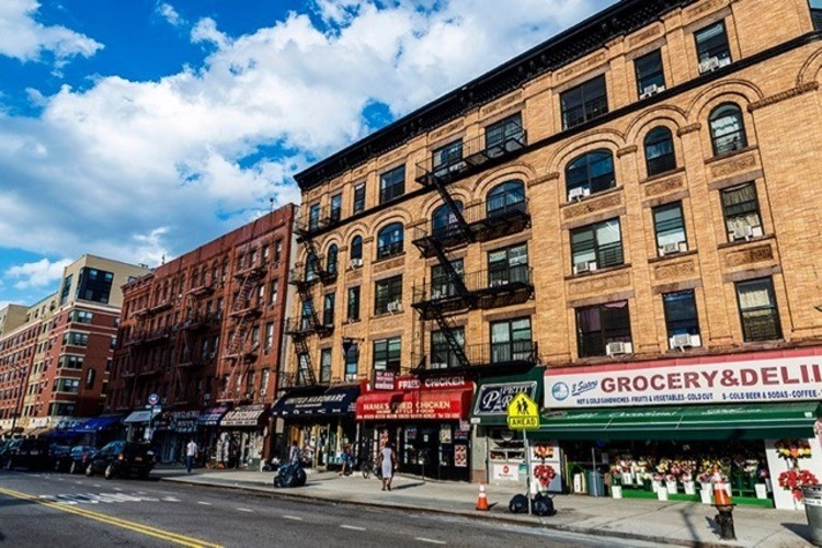 Storefronts on 125th street
