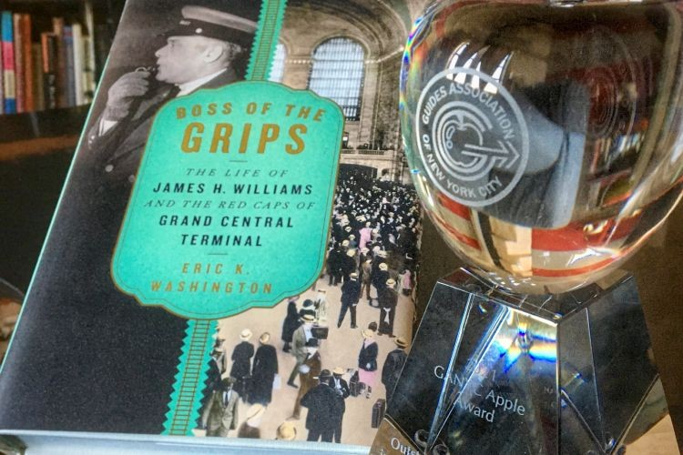 Eric Washington's Boss of the Grips and his award from GANYC.